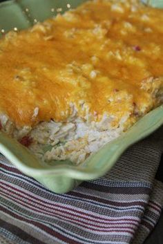 Mexican Chicken Casserole recipe that is perfect for any night of the week~ http://www.southernplate.com