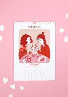 Free Calendar Printable for 2018 - Wonderful Illustrations by Notietzblock Creative Calendar, Free Calendar, Calendar Girls, Calendar Design, Calendar Printable, Book Illustration, Digital Illustration, Freebies, Photo Wall Collage