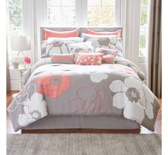 Home Expressions™ Blooms 10-pc. Comforter Set & Accessories