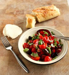 Vanilla Clouds and Lemon Drops: Warm Tomato & Chorizo Salad with Olives