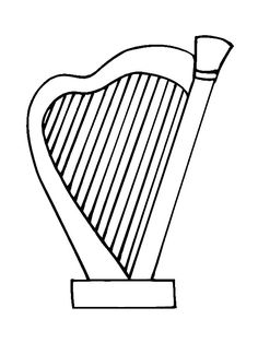 musical instruments coloring pages for kids musical instruments coloring pages 33 coloring pages of musical instruments - Triangle Instrument Coloring Page