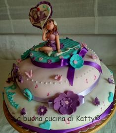 La buona cucina di Katty: Torta Violetta Disney ..... per il compleanno di Rebecca Violetta Disney, Birthday Cake, Sweet, Desserts, Food, Kids, Dress, Tailgate Desserts, Toddlers