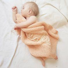 Personalised Baby Blanket Knitting Kit | Stitch & Story - Stitch & Story UK Personalized Baby Blankets, Personalised Baby, Crochet Hooded Scarf, Bamboo Knitting Needles, Cast Off, Knitting Kits, Baby Models, Handmade Baby, Baby Fever