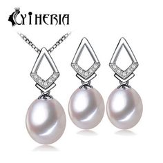 CYTHERIA Jewelry Sets , NEW Fashion jewelry 100% real natural pearl jewelry set for women  3 color gift