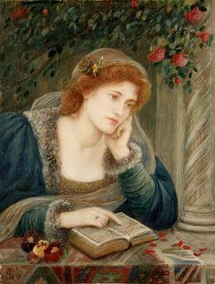 Marie Spartali Stillman: Although considered to be the greatest Pre-Raphaelite female artist, Marie Spartali Stillman is still virtually unknown and under-represented in the canon of art history. One of a small… Reading Art, Woman Reading, Reading Books, Musée Rodin, Pre Raphaelite Brotherhood, Guache, Foto Art, Western Art, Beautiful Paintings