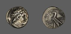 Greco-Egyptian    Coin Showing Ptolemy, King of Cyprus, 68 B.C.-7 B.C.    Silver