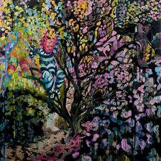 "Jimmy James Kouratoras, ""Ihi Wana Wehi"" | Mixed Media on Paper | $4,480 | Source: http://www.art-mine.com/artistpage/jimmy_james_kouratoras.aspx | Agora Gallery | Contemporary Fine Art | NYC, NY."