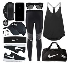 """""""Nike Marathon"""" by carolsposito ❤ liked on Polyvore featuring NIKE and Yves Saint Laurent"""