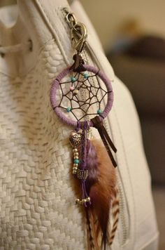 Dreamcatcher Feather Purse Charm                                                                                                                                                                                 More