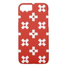 Switzerland Flag with  Heart pattern iPhone 8/7 Case - pattern sample design template diy cyo customize