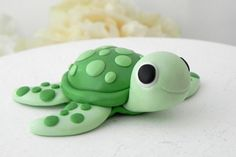 Baby Turtle Cake Topper Birthday or Baby Shower by LavaGifts