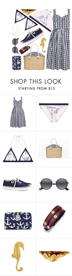 """""""Sail Away"""" by interesting-times ❤ liked on Polyvore featuring Tory Burch, Club Monaco, Ace and Dessau Home"""