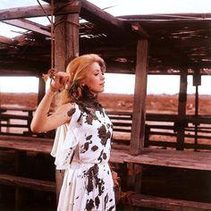 Catherine Deneuve on the set of Luis Buñuel's Belle de jour (1967).
