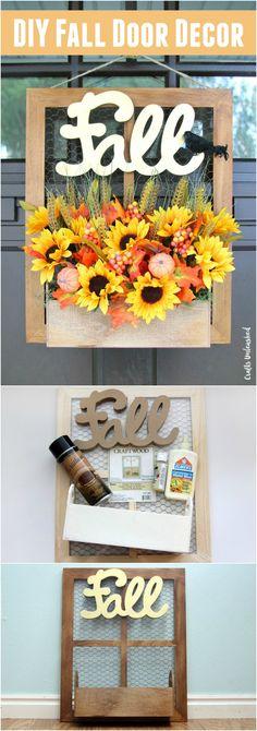 DIY Fall Planter Box Door Hanger