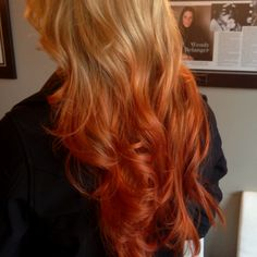 Blonde to copper