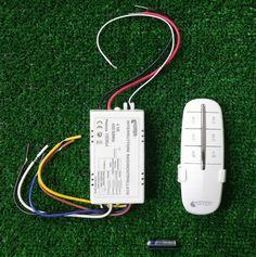 interruttore wireless con telecomando portata 30mt a 4 vie 220v lampada WIRELESS