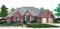 Home Plans HOMEPW21859 - 2,061 Square Feet, 3 Bedroom 2 Bathroom New American Home with 2 Garage Bays