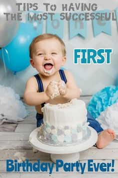 How to plan the perfect First Birthday Party. My theme, party food, favors and cake table.