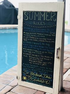 #summer #chalkboard #chalkart