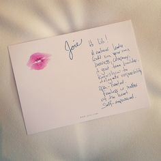 Great #entertaining and #party idea: lipstick readings!