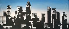 New York Skyline Backdrop