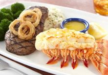 Red Lobster - Lobster and/or Steak with vegetables or salad. No potatoes or biscuits.