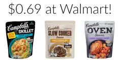 $0.69 Campbell's Slow Cooker, Skillet, or Oven Sauces at Walmart!