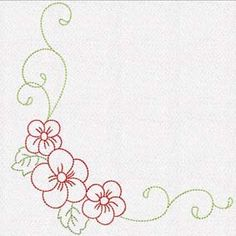flower decor 4 set of 10 Hand Embroidery Stitches, Modern Embroidery, Embroidery Applique, Embroidery Patterns, Handmade Baby Clothes, Quilting Templates, Fabric Handbags, Flower Doodles, Beading Projects