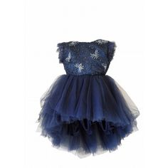 Rent DOLLY by Le Petit Tom Drama Dress in Navy