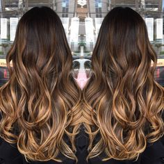 ombre hair Get this look with Cliphairs Dye-able Extra thick Double Weft Human Hair Extensions and transform your hair to completely a different level Brown Ombre Hair, Brown Hair Balayage, Light Brown Hair, Hair Color Balayage, Brown Hair Colors, Blonde Ombre, Tan Skin Hair Color, Ombre Hair Color For Brunettes, Full Balayage