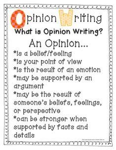 Opinion Writing Unit: My Opinion Matters