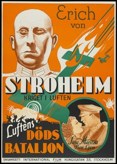 Crimson Romance (1934) Stars: Ben Lyon, Sari Maritza, Erich von Stroheim, William Bakewell, Hardie Albright ~ Director: David Howard (Swedish Poster)
