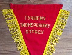 Soviet pioneer pennant Soviet vintage Pennant USSR Flag