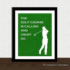 FATHERS DAY printable  The Golf Course is by PunkalunkPrintables, $5.95