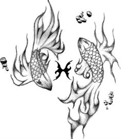 Pisces tattoo idea by Sully Lizette Haro