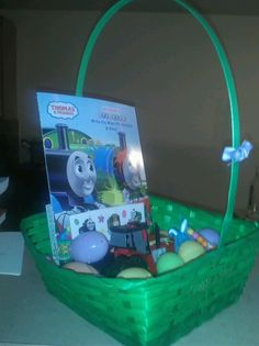 Ideas for an easter basket for a 25 year old girl cool crafts easter basket for a 2 year old complete with tractor and thomas the train sticker book negle