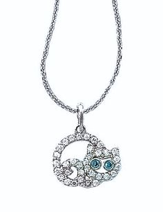 Sterling SIlver C.Z. Cat Pendant. (Fits up to 1.5MM Chain) - See more at www.NoesJewelry.com
