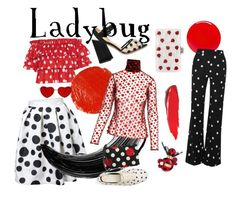 """Ladybug"" by streetbred on Polyvore featuring Caroline Constas, Charlotte Olympia, Hourglass Cosmetics, Tom Ford, RED Valentino, Monse, Marc Jacobs, Kate Spade, Anouki and Edie Parker Charlotte Olympia, Hourglass, Tom Ford, Ladybug, Marc Jacobs, Valentino, Kate Spade, Cosmetics, Polyvore"