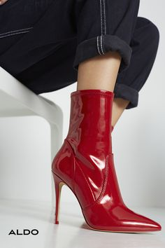 c514f53365a These pointed-toe slip-on ankle boots feature some sizzling hot leather.  With