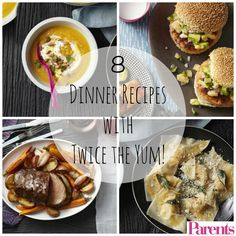 Use tonight's meal to get a head start on a second supper by making extra of one ingredient and freezing it to repurpose later on. Deliciously clever, right? | Double-Duty Dinners: 8 Dinner Recipes With Twice the Yum!