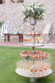 Moscow mule copper cup and champagne display for cocktail hour at Destination Silverleaf Country Club wedding in Scottsdale, Arizona. Photographed by Phoenix Wedding Photographers Amy and Jordan Demos Silverleaf Country Club Wedding in Scottsdale, Arizona Wedding Themes, Wedding Cakes, Wedding Decorations, Wedding Ideas, Wedding Venues, Wedding Foods, Wedding Catering, Wedding Programs, Wedding Locations