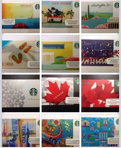 My Starbucks Cards collection