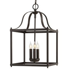 allen + roth Collinwick 12.05-in Specialty Bronze Country Cottage Single Cage Pendant