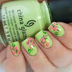 + 20 vintage floral nail art designs 2018 just like most girls, i favor the Fancy Nails, Diy Nails, Cute Nails, Pretty Nails, Flower Nail Designs, Nail Designs Spring, Cool Nail Designs, Awesome Designs, Floral Nail Art