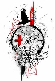 New Tattoo Compass Design Trash Polka 42 Ideas Clock Tattoo Design, Compass Tattoo Design, Tattoo Designs, Tattoo Ideas, Tattoo Clock, Forearm Tattoos, Body Art Tattoos, Sleeve Tattoos, Trendy Tattoos
