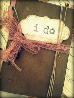 cool idea for a wedding scrapbook