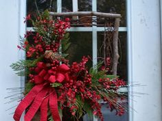 Wreaths and other hand crafted seasonal designs Woodland Christmas, Merry Christmas To All, Christmas Door, All Things Christmas, Winter Christmas, Christmas 2014, Christmas Goodies, Christmas Ornaments, Holiday Wreaths