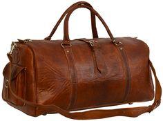 """Ein Blickfang auf jedem Flughafen! """"Harrison"""" verbindet Design, Komfort und Platz in einem und das auf eine außergewöhnliche Art und Weise. Aus naturgegerbtem Rindsleder verzaubert sie einem mit ihrem tollen Vintage-Design - Weekender - Reisetasche - Gusti Leder - R17"""