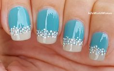 #Beach Inspired #Turquoise #Marble Nails
