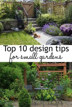 10 garden design tips to make the most of small spaces. How to make your small garden look and feel bigger. And how to make the best use of your garden space. Great tips